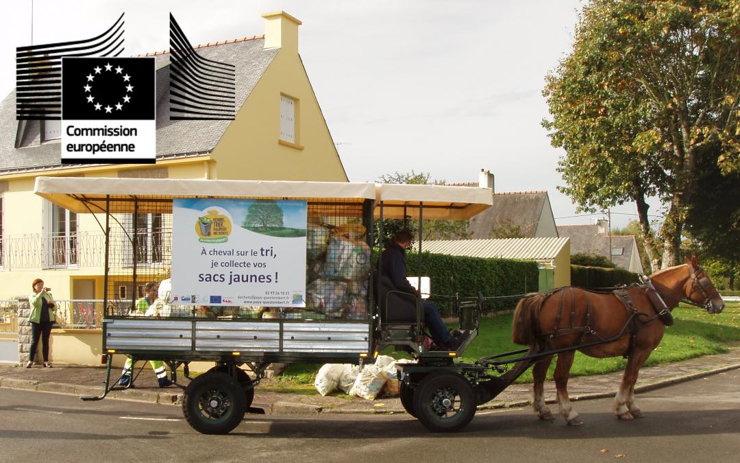 Collecte des déchets à cheval à Questembert